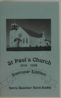 St. Paul's Church : 1916-1998 : Harve Boucher, Nova Scotia