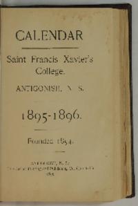 Calendar of Saint Francis Xavier's College, Antigonish, N. S., 1895-1896