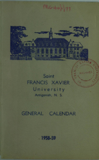 Saint Francis Xavier University, Antigonish, N. S., General Calendar, 1958-59
