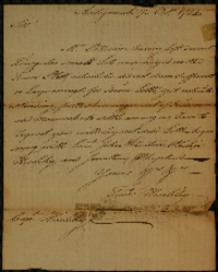 Colonel Hierlihy's order to lot out some triangular lots in the town, October 1784