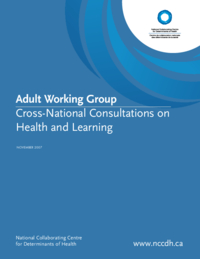 Adult Working Group : Cross-national Consultations on Health and Learning