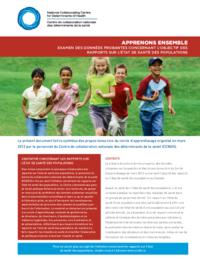 Apprenons ensemble : Examen des données probantes concernant l'objectif visé par les rapports sur l'état de santé des populations