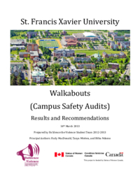 St. Francis Xavier University Walkabouts (Campus Safety Audits): Results and Recommendations 14th March 2013