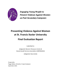 Preventing Violence Against Women at St. Francis Xavier University Final Evaluation Report