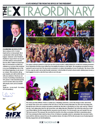 The Extraordinary: A StFX Newsletter from the Office of the President (2015-12-11)
