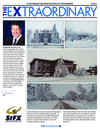 The Extraordinary: A StFX Newsletter from the Office of the President. Second Issue (2016-02-11)